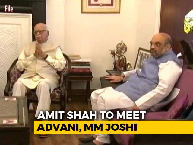 Video : Amit Shah May Meet Upset LK Advani, Murli Manohar Joshi Today: Sources