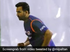 """Zak Is Back"": Zaheer Khan Turns Back The Clock At Mumbai Indians Nets With Perfect Bowling Action"