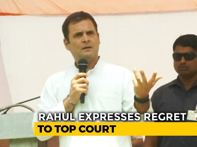 Video : Rahul Gandhi Expresses Regret To Top Court On Remarks On Its Rafale Order