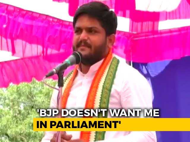 "Video : ""BJP Scared Of A 25-Year-Old, So Disrupting Events"", Says Hardik Patel"