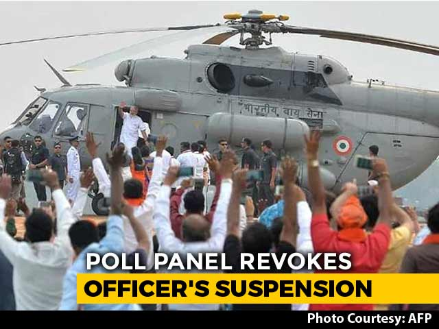 Video : Poll Body Revokes Officer's Suspension Over PM Chopper Row, Wants Action