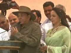 "With ""<i>Sholay</i>"" Throwback, Dharmendra Campaigns For Hema Malini In Mathura"