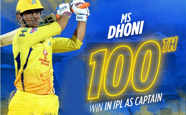 MS Dhoni Records 100th IPL Win As CSK Beat Rajasthan Royals In Last-Over Thriller