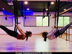 Alia Bhatt And BFF Akansha Ranjan Catch Up Over Aerial Yoga. Pic Here