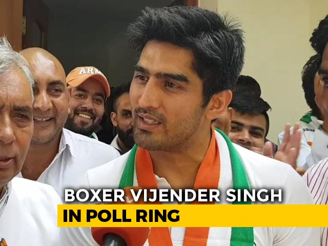 "Video : ""<i>Kuch To Log Kahenge</i>..."": Vijender Singh's Bollywood-Inspired Jibe At Critics"