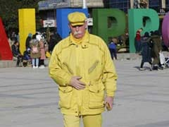 Mysterious 'Yellow Man' Refuses To Reveal Why He Wears Only One Colour