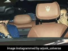 Spotted: Malaika Arora And Arjun Kapoor Twinning In Blue
