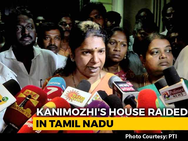 "Image result for After Raid At DMK Leader Kanimozhi's House, Tax Officials Say ""False Tip"""