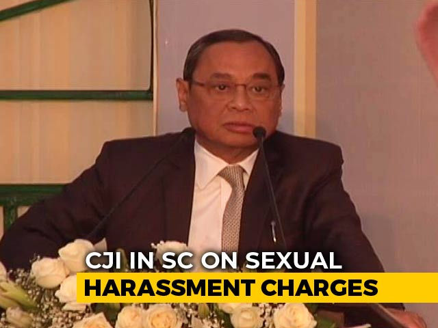"Video : ""Judiciary Under Threat"": Chief Justice Denies Sex Harassment Allegation"