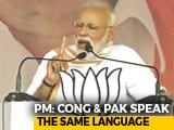 "Video : ""Congress Responsible For Creation Of Pakistan In 1947"", Says PM Modi"