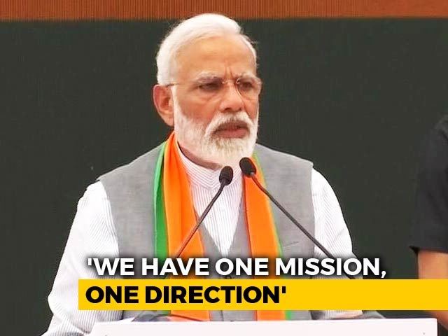 "Video : ""Will Take India On One Mission, One Direction"": PM Launches BJP Manifesto"