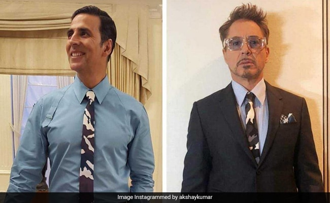Avengers Star Robert Downey Jr And Akshay Kumar In A 'Tie Face-Off.' The Internet's Take Is....