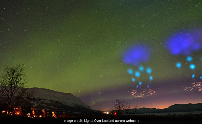 Aliens? UFOs? Mysterious Blue Lights Over Arctic Circle Turn Out To Be...