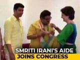 Video : Smriti Irani Aide, From Uttar Pradesh's Amethi, Joins Congress