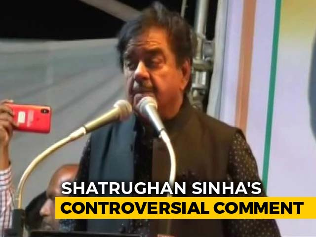 Video : At Shatrughan Sinha Rally, A Jinnah Reference In His Praise For Congress