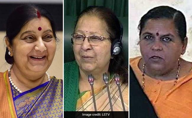 सुषमा स्वराज, उमा भारती और सुमित्रा महाजन, मध्य प्रदेश की तीनों महिला सांसद चुनाव से बाहर