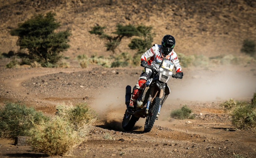 Hero MotoSports Rally Team riders continue their strong show at the Merzouga Rally