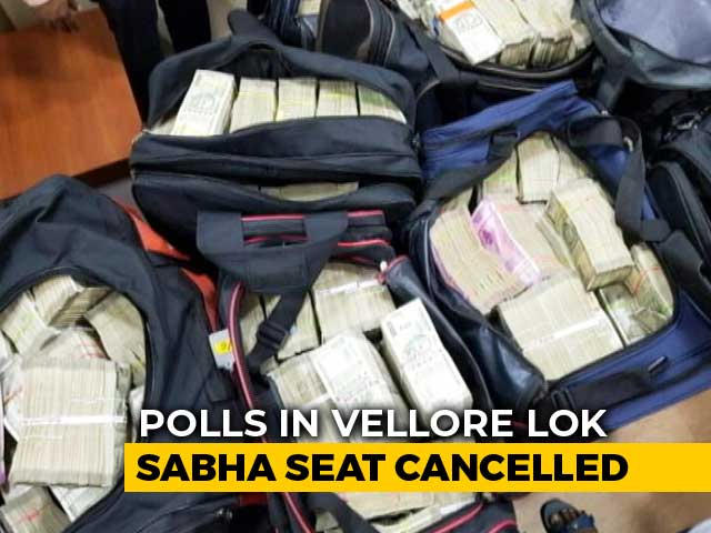Video : Lok Sabha Polls In Tamil Nadu's Vellore Cancelled After Huge Cash Haul