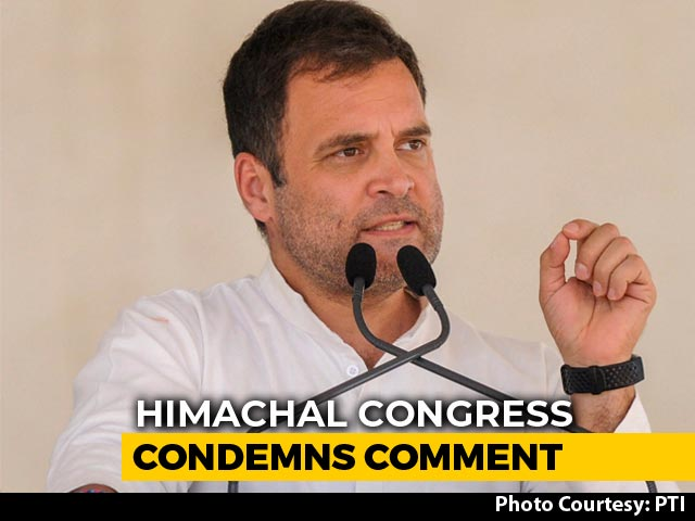 Video : Himachal BJP Chief's Obscene Slur For Rahul Gandhi Draws Congress Protest