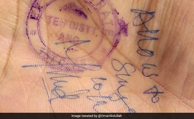 हाथ पर मुहर लगाकर मिल रही है जम्मू-कश्मीर हाईवे इस्तेमाल करने की अनुमति, उमर अब्दुल्ला ने कहा- यह अपमानजनक