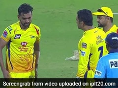 MS Dhoni Loses His Cool, Lashes Out At Deepak Chahar - Watch