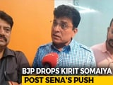 Video : BJP's Kirit Somaiya Dropped, Pays For Attacking Sena Before Patch-Up