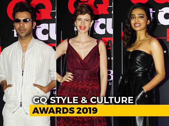 Rajkummar, Radhika & Kalki At GQ Style & Culture Awards