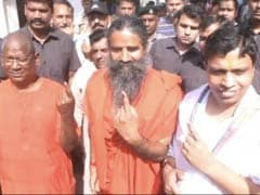 """Nationalism Key Issue,"" Says Ramdev After Voting In Haridwar"
