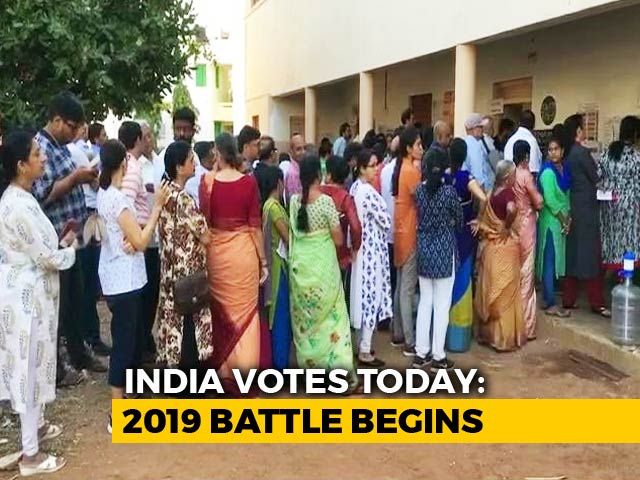 Video : General Elections Begin, 91 Seats Vote In First Phase