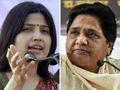 """""""Part Of My Family"""": Mayawati After Dimple Yadav Touched Feet On Video"""