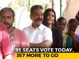 "Video : ""Today Is The Day"": Kamal Haasan, Daughter Shruti Vote Early In Chennai"