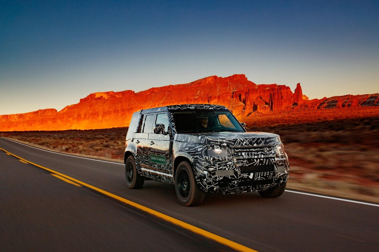 The Land Rover Defender will complete more than 45 000 individual tests by the time of its debut