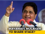 Video : 24 Years On, Arch-Rivals Mulayam Singh, Mayawati At Joint Rally Today