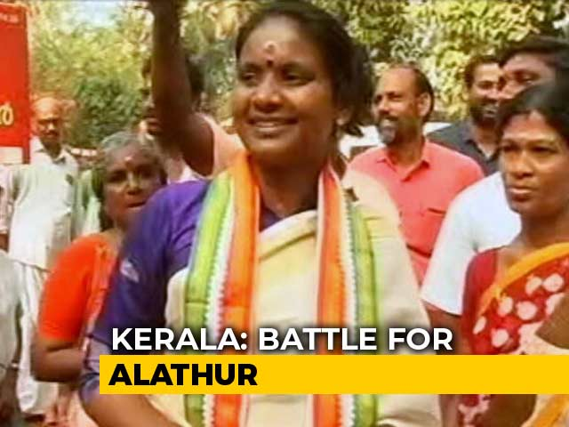 Video : Left Faces Off Against Congress Amid Songs And Slogans In Kerala's Alathur