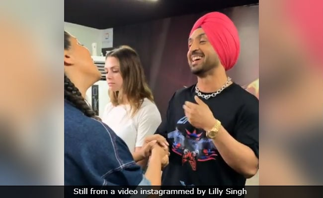 Diljit Dosanjh And Lilly Singh Show How True Blue Punjabis Greet In This ROFL Video