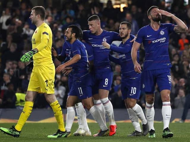 Chelsea Survive Fright Night To Reach Europa League Semi-Finals