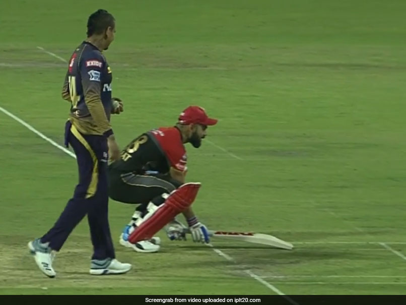Virat Kohli Foils Sunil Narine's 'Mankading' Chance In A Hilarious Way - Watch