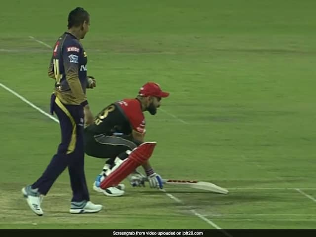 Virat Kohli Foils Sunil Narines Mankading Chance In A Hilarious Way - Watch