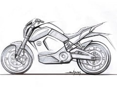 Revolt Motors Releases Sketch Of Its Upcoming Smart Motorcycle