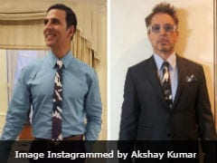 <i>Avengers</i> Star Robert Downey Jr And Akshay Kumar In A 'Tie Face-Off.' The Internet's Take Is....