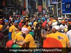 Sea Of Colors At Times Square As Sikh Community Celebrate Turban Day