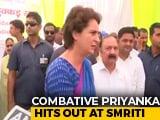 Video : In Amethi, Priyanka Gandhi Takes On Smriti Irani In Fight Over Shoes