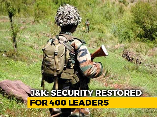 Video : Over 400 Jammu And Kashmir Politicians Get Back Security After Complaints