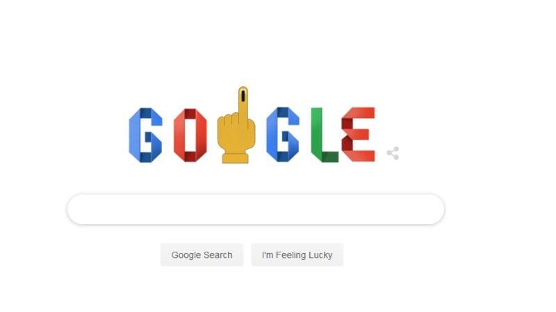 Lok Sabha Elections 2019 Google Doodle: गूगल ने डूडल बनाकर लोगों को कुछ यूं दिया वोटिंग का संदेश