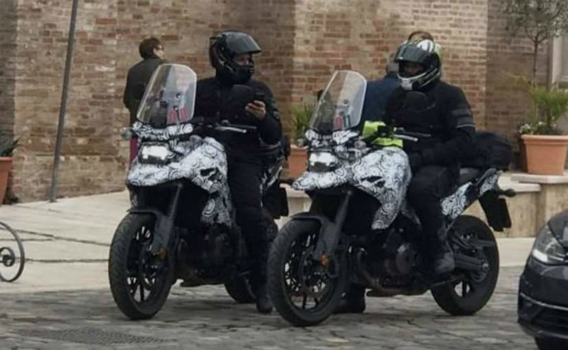 A camouflaged new Suzuki adventure bike test mule has been spotted in Italy