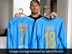 "Aaron Finch Thanks ""All-Time Greats"" Virat Kohli, MS Dhoni For Wonderful Gesture"