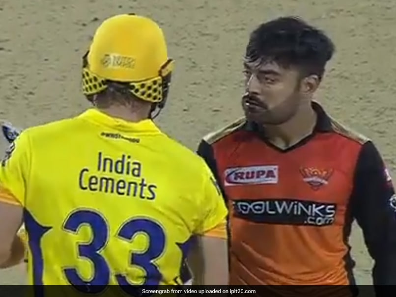 CSK vs SRH: Rashid Khan Tries To Intimidate Shane Watson, Turns Into Viral Memes