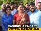 Video : Ex-Rajasthan Chief Minister Vasundhara Raje Votes As Phase-4 Polling Begins