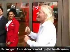 Scary Video Shows Billionaire Richard Branson's Close Call With Falling Metal Bar