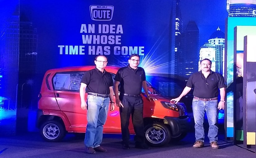 The new Baja Qute is India's first ever quadricycle.